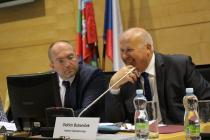 Oldřich Bubeníček, hejtman ÚK společně s Karlem Novotným, náměstkem ministra MPO