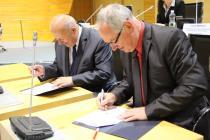 Slavnostní podpisy Memoranda o partnerství a spolupráci při podpoře Společenské odpovědnosti organizací v Ústeckém kraji